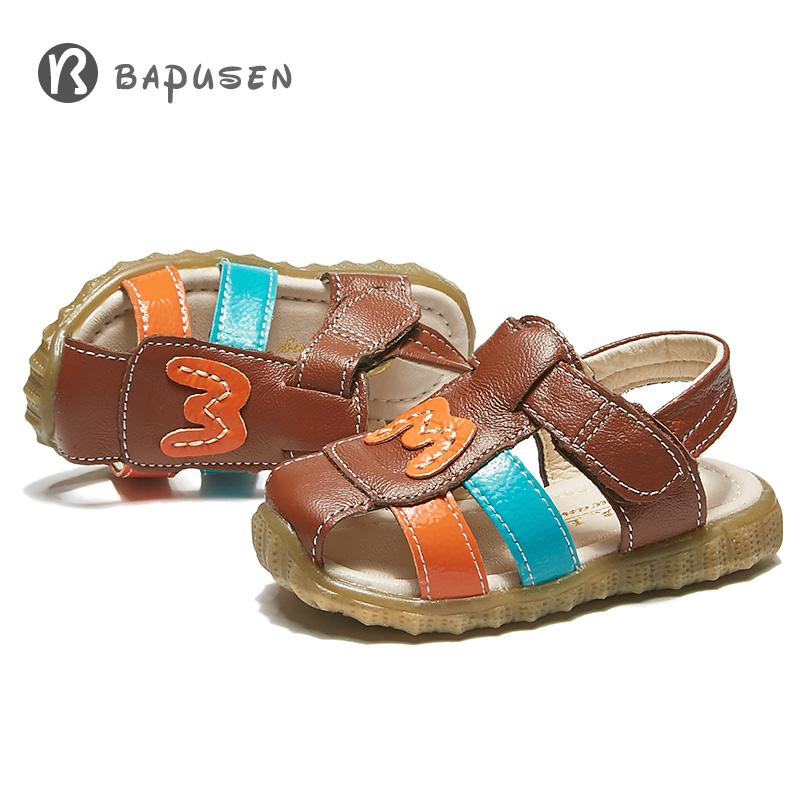 【大牌促销】儿童软底防滑包头凉鞋