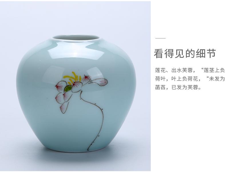 Jingdezhen ceramic flower flower implement small vase ikebana art home furnishing articles sitting room porch TV ark, adornment