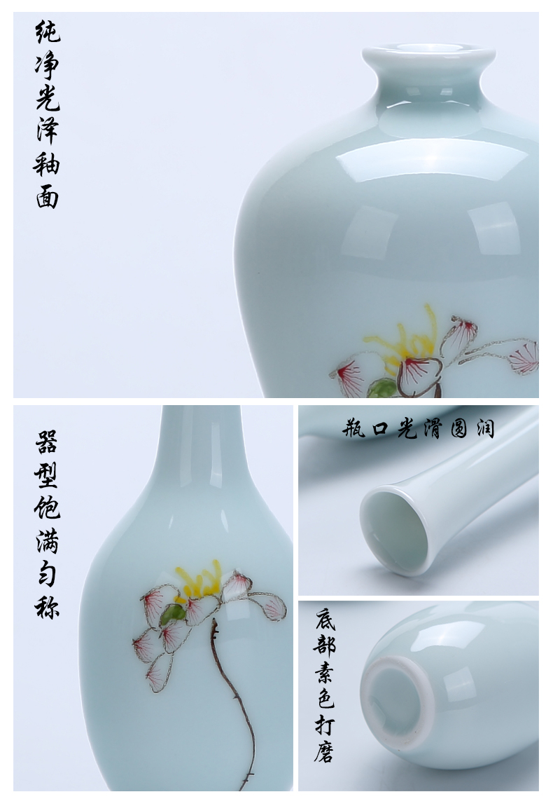 Creative floret bottle of new Chinese style furnishing articles celadon ceramic flower mesa home sitting room porch decorate the dried flowers