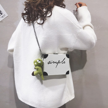 Box small bag women's bag new 2020 Korean letter box small square BAG PERSONALIZED chain Single Shoulder Messenger Bag Fashion