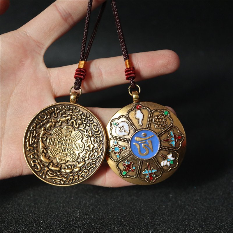 Тибетские выпрямители для волос цвет Ремесла Девять дворцов Сплетни Тибетский стиль Знаки зодиака Девять дворцов Подвески