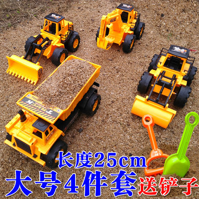 Large inertia engineering vehicle children's excavator bulldozer road roller forklift truck toy boy suit model