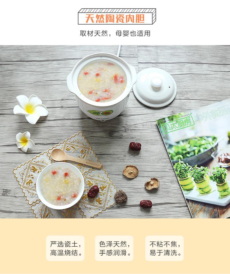 天际一人食炖锅迷你小正品电炖盅陶瓷小型煮粥砂锅煲炖份炖盅详细照片