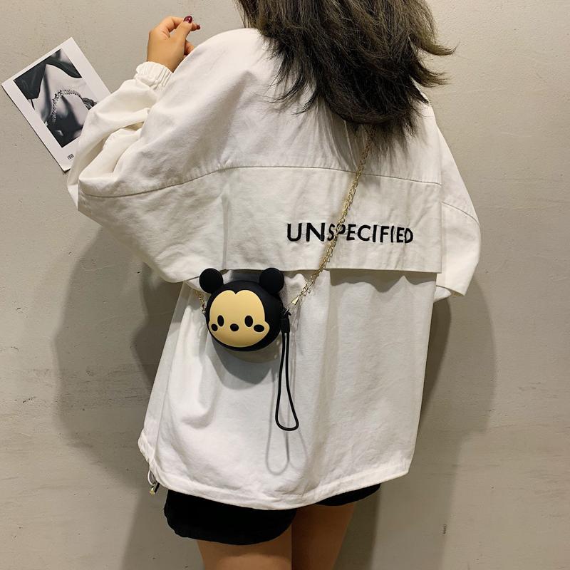 包包女包新款2019迷你零钱包韩版可爱卡通搞怪少女萌丑斜挎链条包