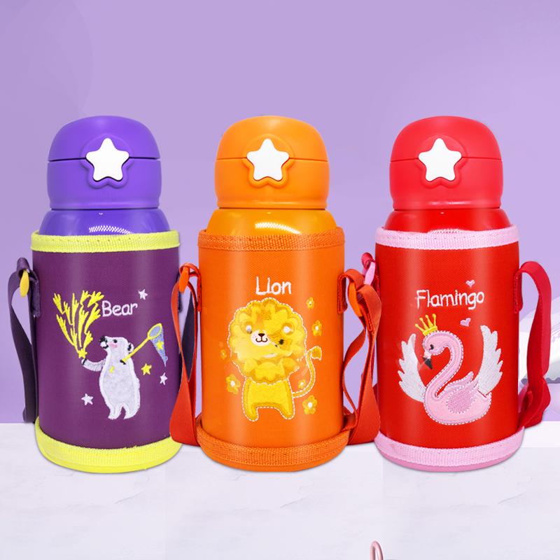 宝宝水壶儿童保温杯带吸管两用316不锈钢保温杯幼儿园学生水杯