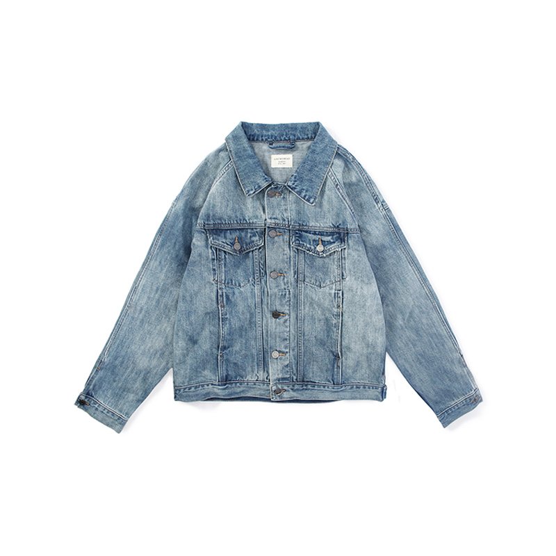 9da319f215a ... lightbox moreview · lightbox moreview. PrevNext. LOSTMYHEAD denim  jacket male country Tide loose gown country Tide bf ...