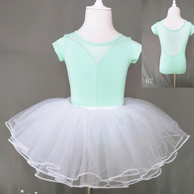 Girls Ballet Dance Dresses Wholesale children's dance clothes girls' short sleeve training clothes days ballet dancing clothes girls' gymnastics clothes