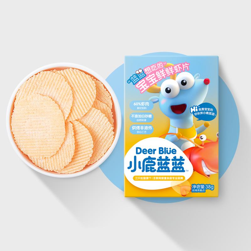 【小鹿蓝蓝_宝宝虾片】零食无添加糖磨牙饼干送一岁婴儿辅食食谱