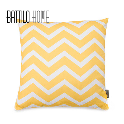Nordic geometric pattern pillow yellow white wave wavy tie pads board room decoration hug pillow office waist