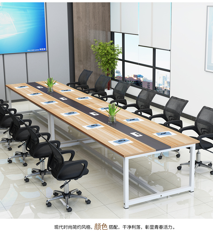 Special Price Simple Modern Office Furniture Large And Small Conference Table Bench And Chair Combination Office Table Training Long Table