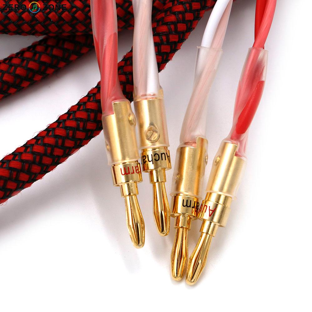 One pair high quality ZERO-ZONE HIFI SP01 Speaker cable 2.5M pure hand made