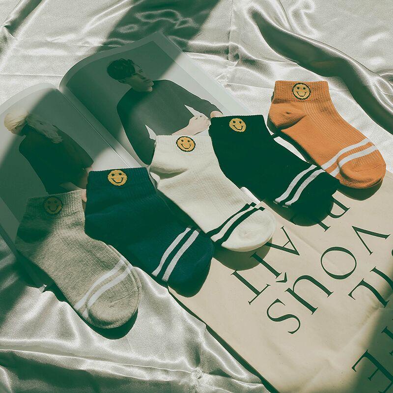 五双装日系秋纯棉短筒浅口防滑隐形袜-优惠券3元淘宝包邮