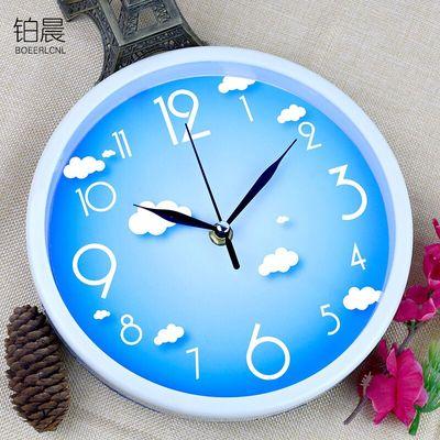 铂晨静音挂钟客厅个性钟表