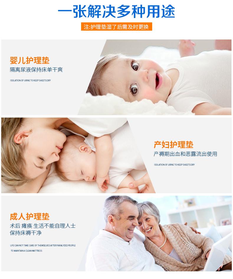 强臣成人看护垫一次性防尿垫男女护垫老人用纸尿垫中单床垫详细照片