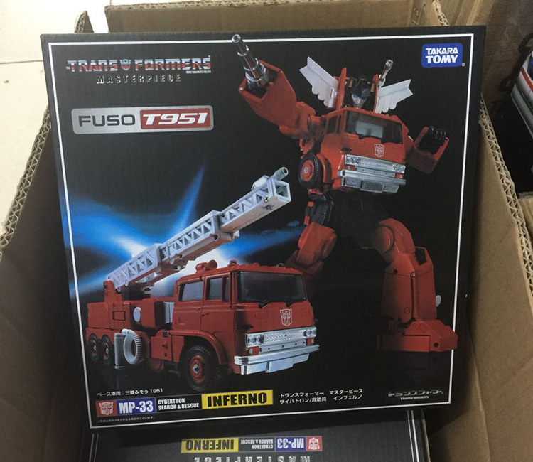 Transformers toy Japanese version of the G1 MP-33 car people  fire engines