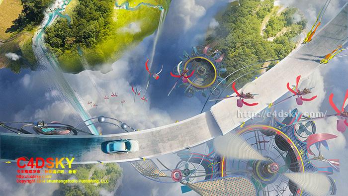 CG样片库:真正的脑洞大开 创意未来高科技本田honda汽车广告参考及制作花絮