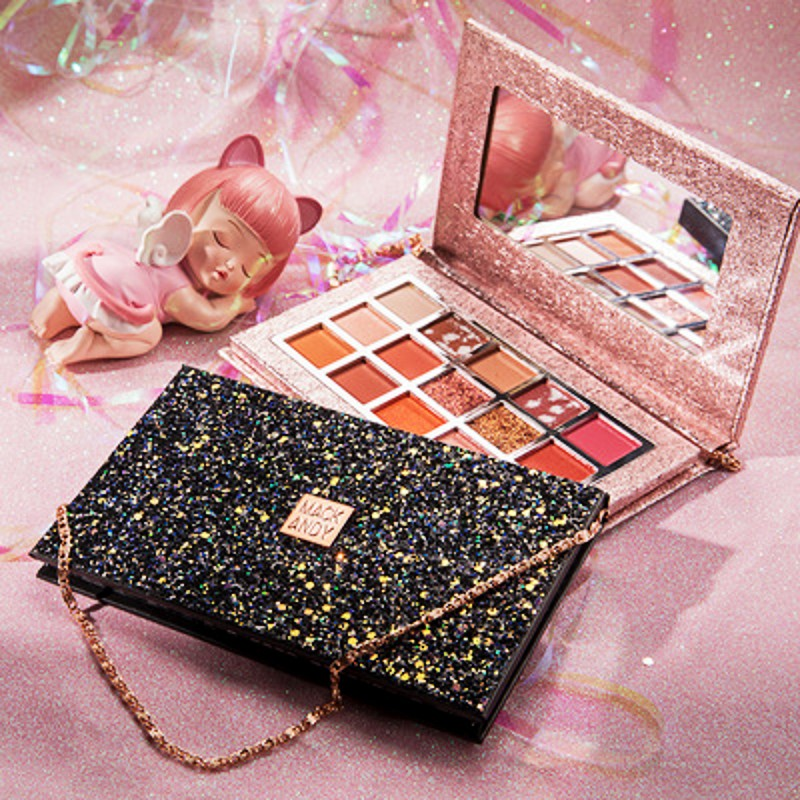 Shake the same super fire women's net red beauty makeup ins eye shadow Starlight Overflow bag 10 colors 15 earth color eye shadow