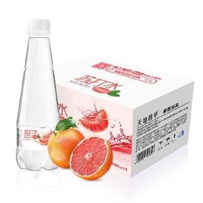天地精华苏打水410ml*15瓶装整箱青柠檬味无糖无汽0卡0脂弱碱性水
