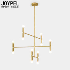 Nordic gold geometric minimalist personality branch chandelier living room restaurant bar cafe type of creative bamboo lamps