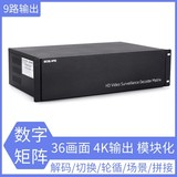 9-screen 36 screen 4K output HD monitoring network digital matrix video decoder 8 megapixel camera