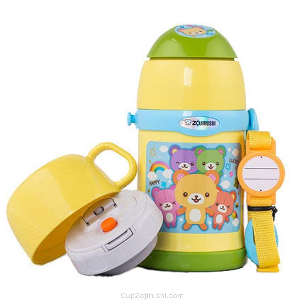 Zojirushi象印儿童可爱不锈钢保温杯直身杯饮水杯450ml日本宝宝