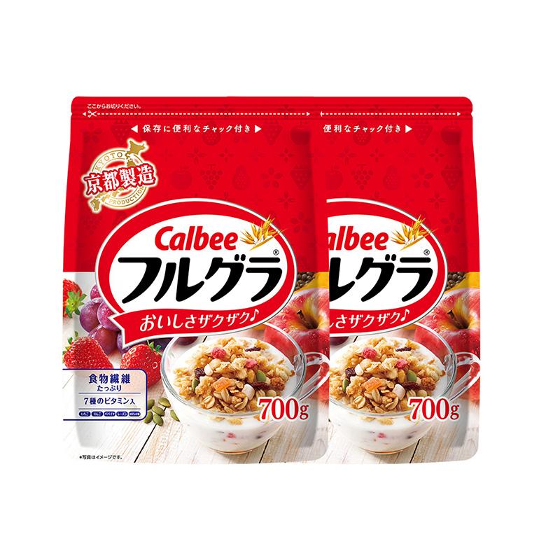 日本卡乐比水果即食麦片冲饮早餐700g*2坚果燕麦谷物食品燕麦片