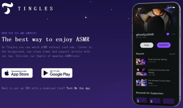 Tingles应用APP软件,ASMR睡眠声音,享受ASMR的最佳方式