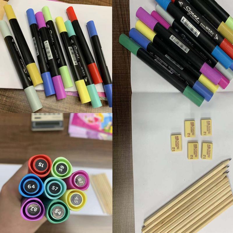 【晨光】双头马克笔1支10支铅笔5个橡皮
