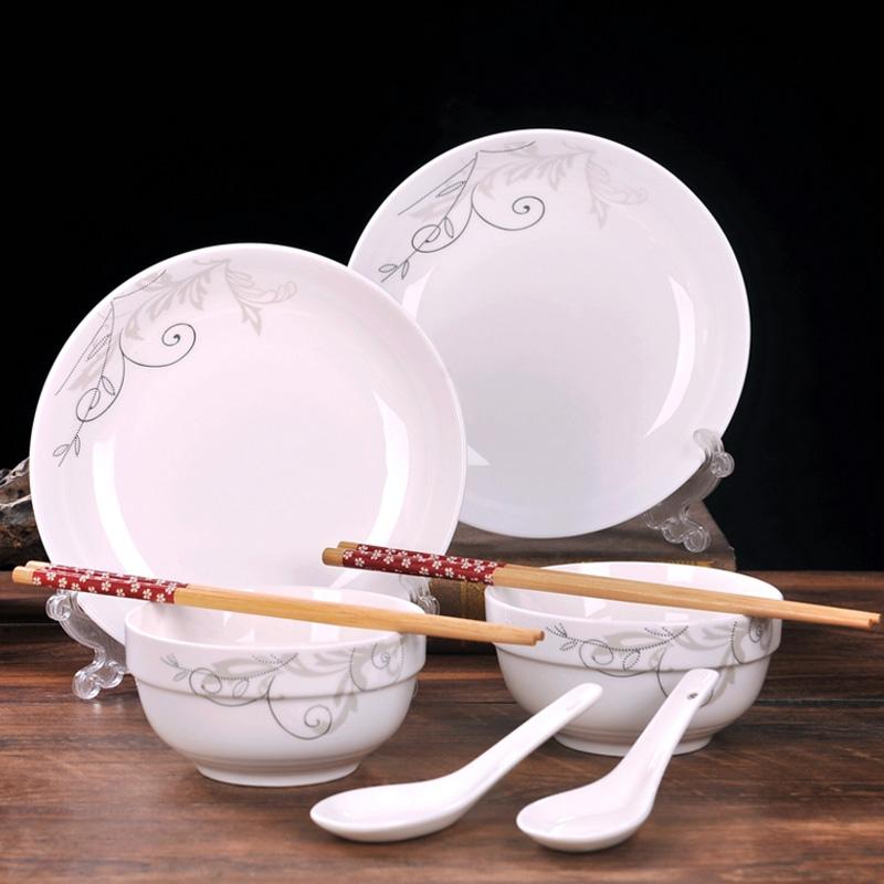 景德镇骨瓷餐具套装8件套