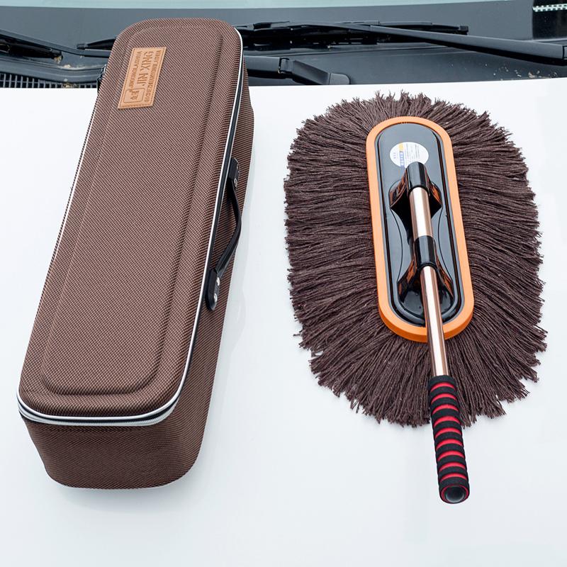 Автомобильная пыль скорпион чистка машины швабры комплект хлопок Линейный телескопический подметальный автомобиль с чистящими восковыми восковыми щетками