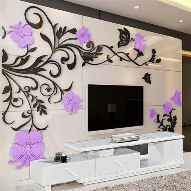 创意墙贴3d墙壁亚克力沙发立体电视背景墙面自粘墙贴纸客厅装饰画