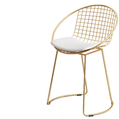 Chair with gold cushion