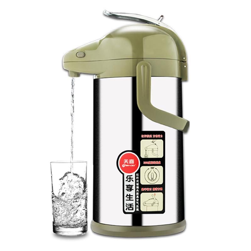 天喜气大容量压式热水壶保温瓶