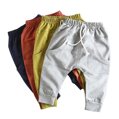 Korean version of the collapse pants children's long pants boy harem pants thin section pants in children and children's casual trousers pants