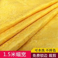 [佛教用品] желтый [龙] принт [佛桌布佛堂装饰供桌布佛帘黄绸布] пакет [经布佛教桌围]