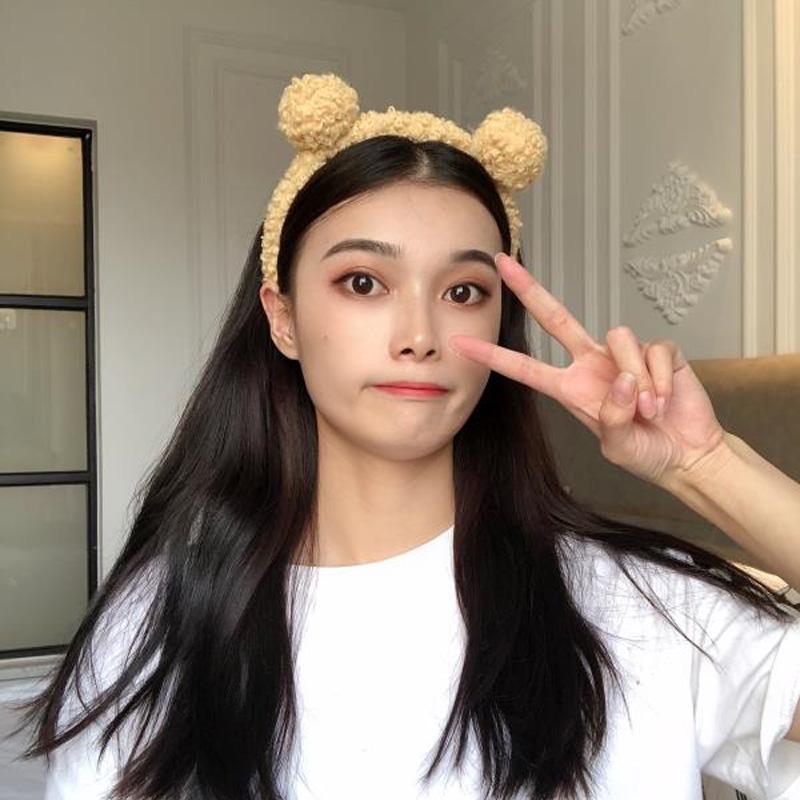 洗脸用发箍女韩国可爱头箍带网红甜美压发防滑发窟猫耳朵发卡头饰