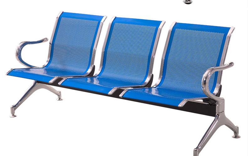 三人位排椅机场不锈钢长椅子医院等候诊椅公共联排休息座椅输液椅详细照片