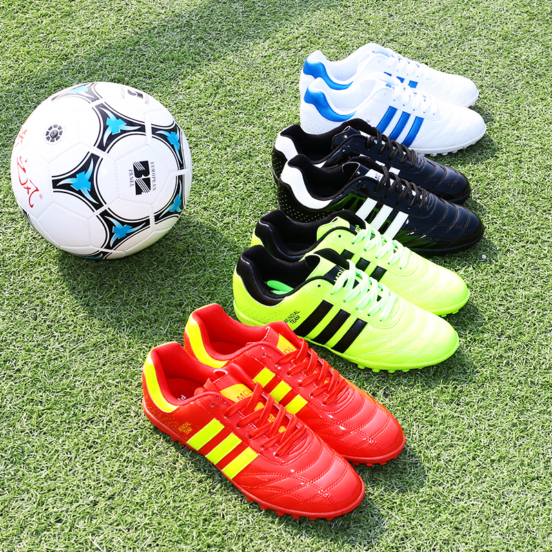 59f3b39f6 Football shoes broken nails men and women primary and secondary school  students adult indoor training non-slip artificial grass children children  soccer ...