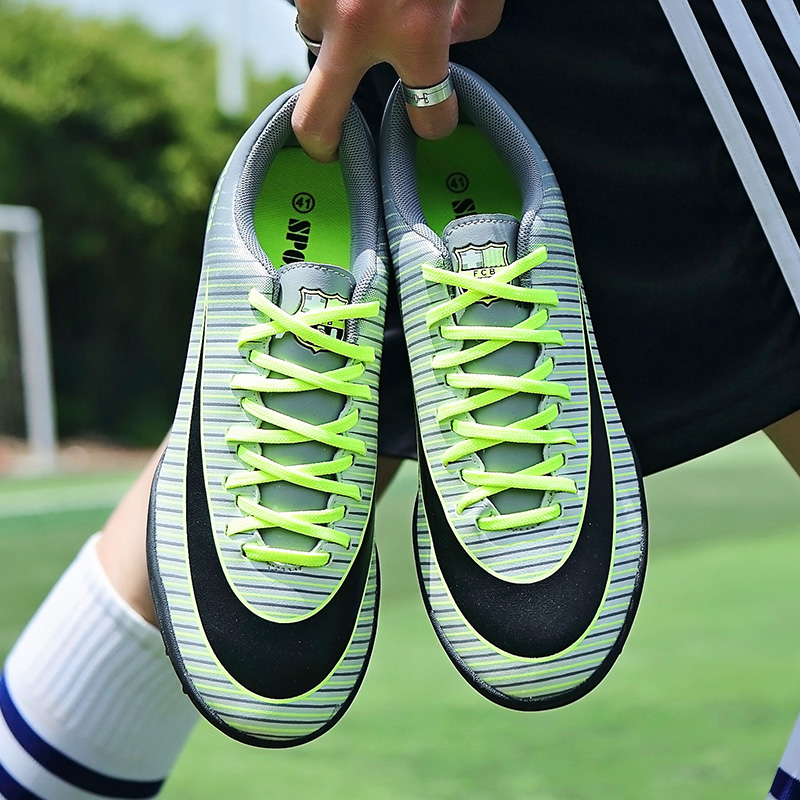 b8b4c87ab Messi C Luo football shoes CR7 Assassin men and women broken nails tf non- slip training shoes artificial grass flat adult sneakers