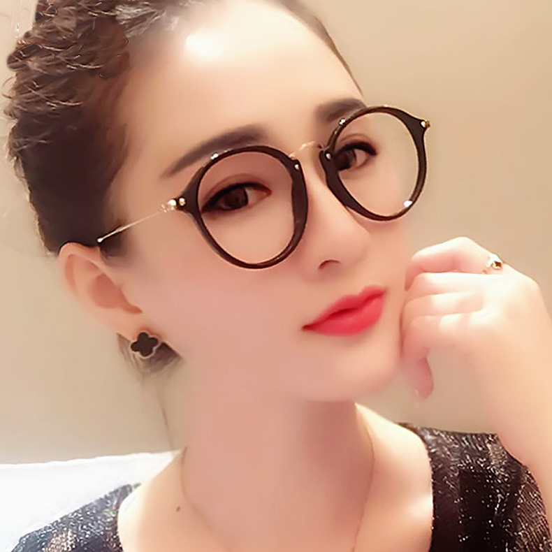 775a54fe0b0 ... Retro myopia glasses frame female literary flat mirror Korean version  of the big face round simple ...