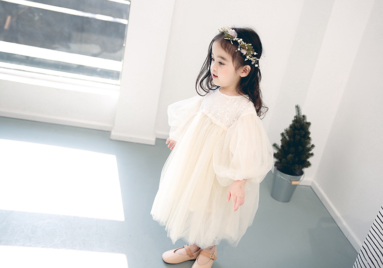 女童春秋洋派一週岁礼服蓬蓬纱裙婴儿宝宝生日仙女公主裙子洋装详细照片