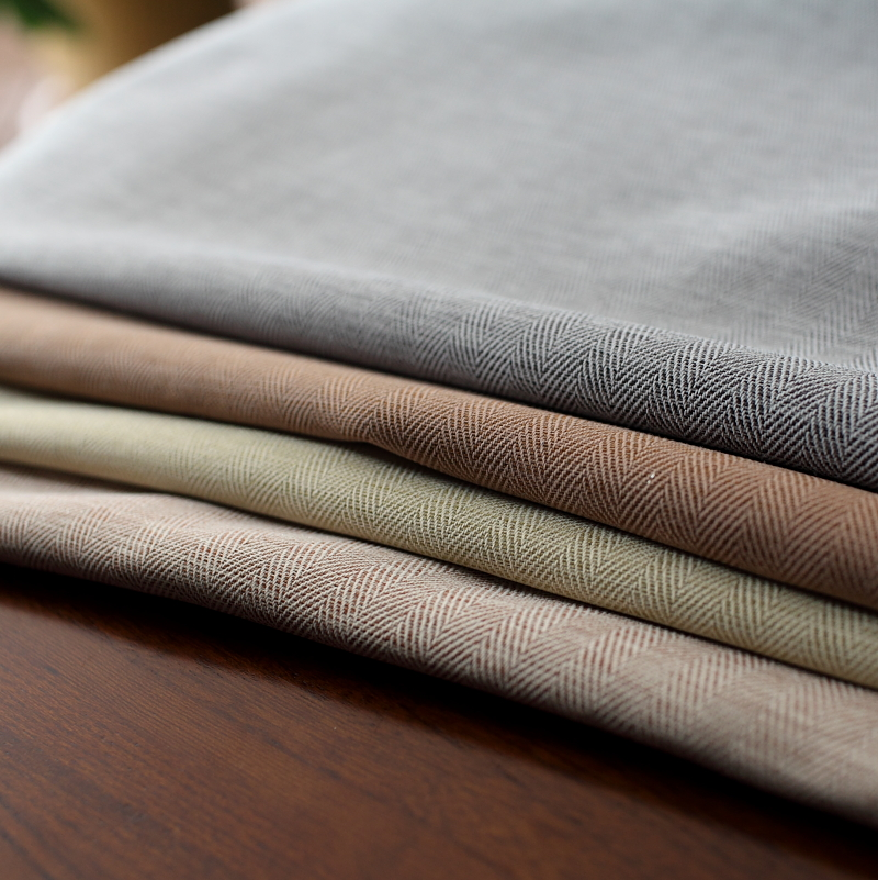 灰色米黄色日系莫兰迪色窗帘 北欧简约现代 成品遮光文艺卧室客厅