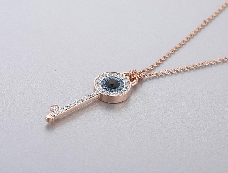 施华洛世奇 DUO 浪漫钥匙 时尚精致 魅力百搭 女项链 送女友礼物商品详情图