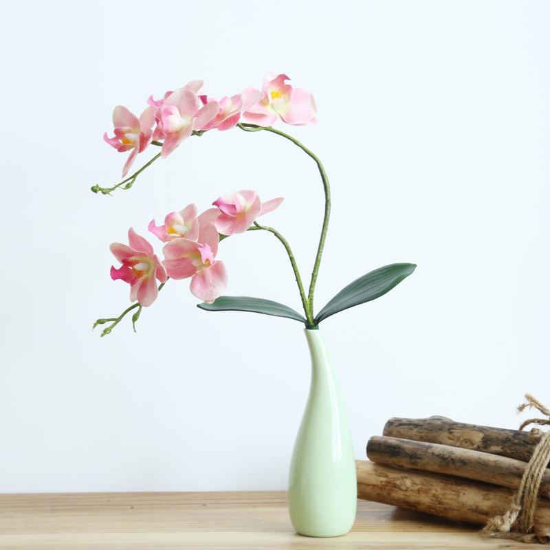 现代简约仿真花假花蝴蝶兰花艺套装客厅家居装饰花绢花小盆栽摆件