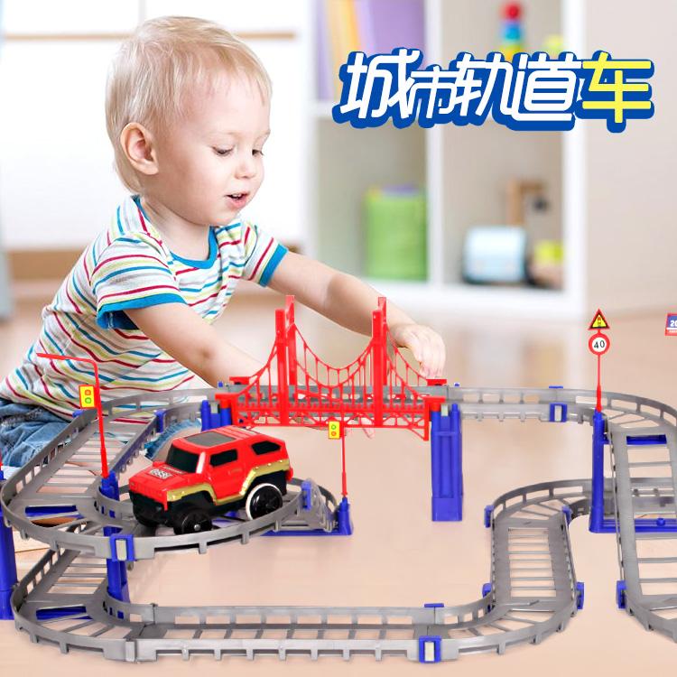Поезд Томаса комплект Дорожная игрушечная машина детские мужской Ребенок 3-6 лет электропоезда