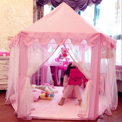 Baby Princess Castle Girl Pink Indoor Toys Children's Tent Play House Play House Separate Bed Artifact Castle