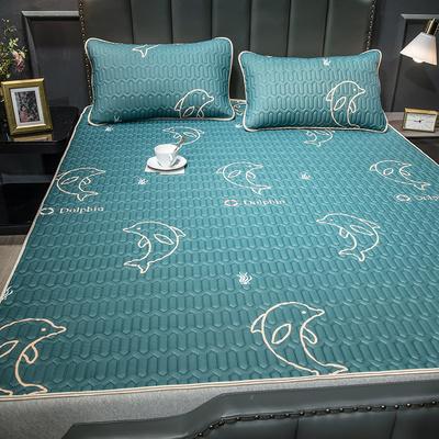 清仓 泰国乳胶凉席三件套夏季冰丝席子可水洗折叠1.2米1.5m1.8床