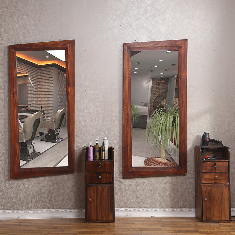 Usd 8679 Do The Old Retro Hairdressing Solid Wood Single Mirror