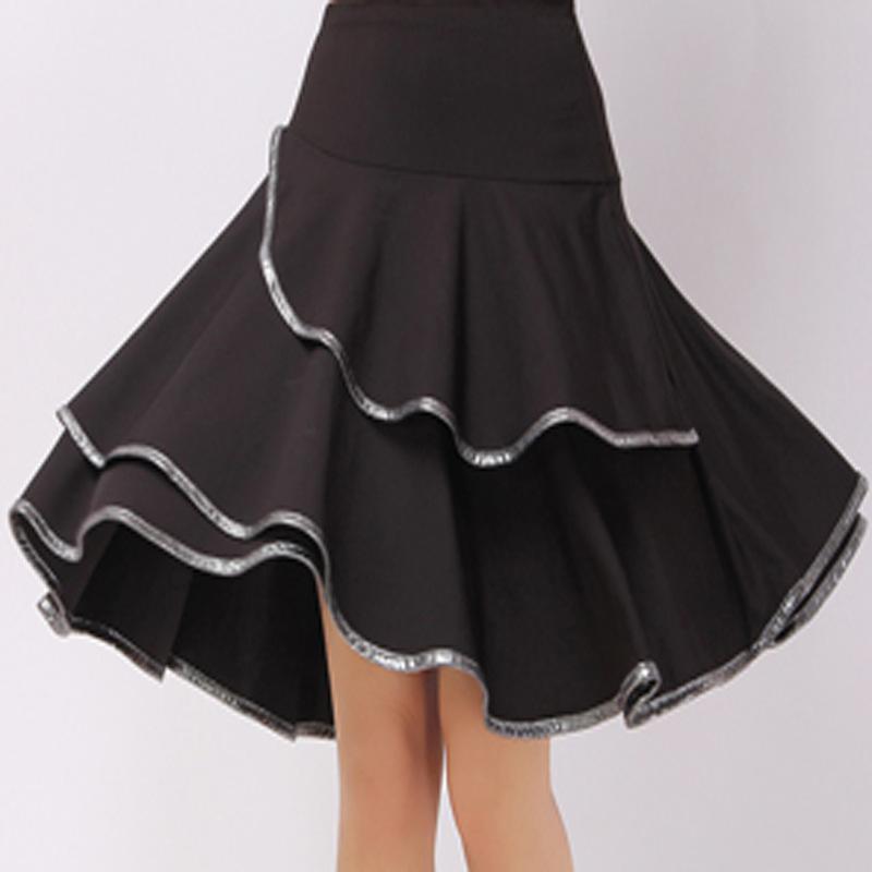 广场舞裙新款跳舞裙子舞蹈短裙交谊舞半身裙夏中长款女套裙