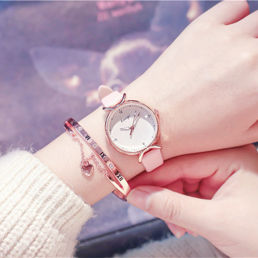 Mori girl watch female student small fresh college wind cherry ladies watch female simple Korean version of the atmosphere of wild